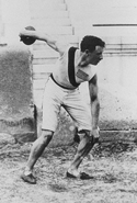 Robert Garrett competing in the 1896 Olympic Games